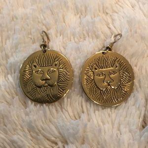 Vintage Laurel Burch Lion earrings